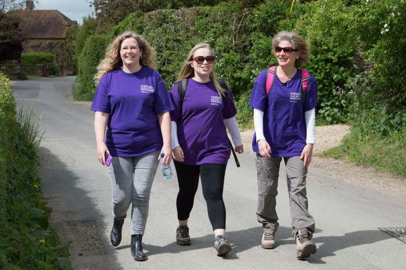 Charity Walk 2015 - walkers raising funds for a Mencap chair.