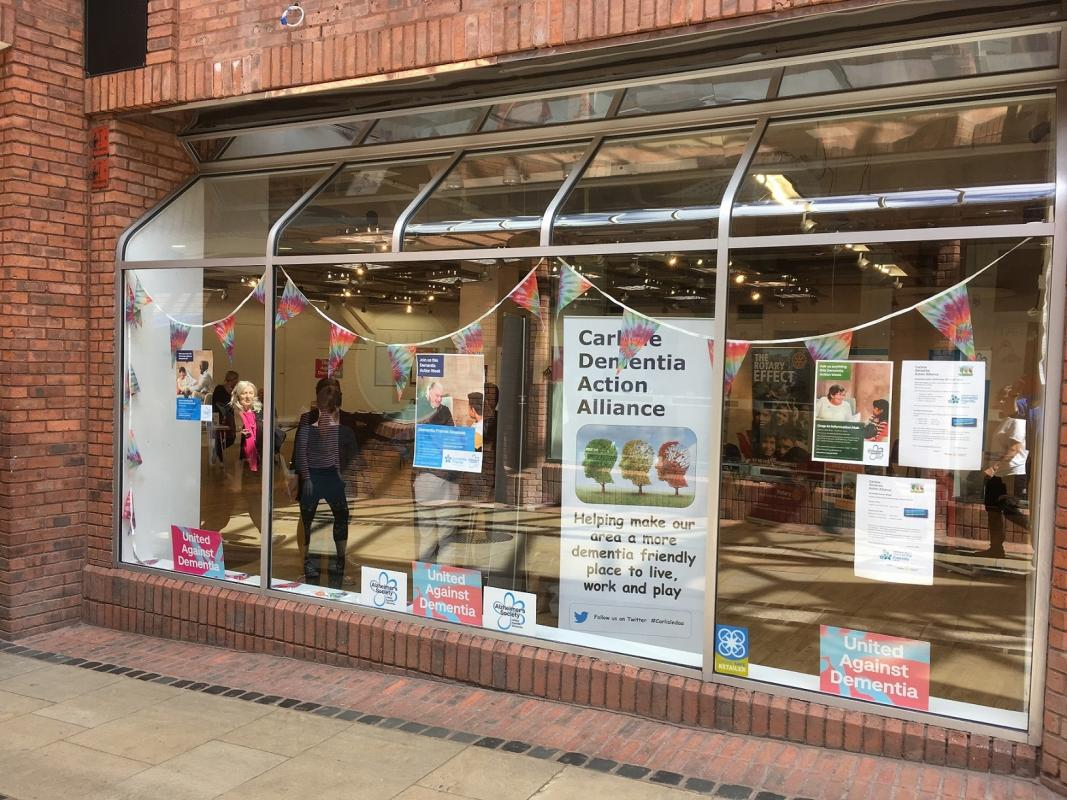 Dementia Action Week May 2019 - Outside the popup hub