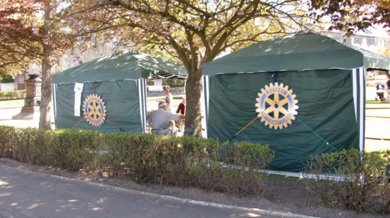 Carluke Gala day June 2013 - Carluke Rotary Gazebo 1 & 2 Roadside