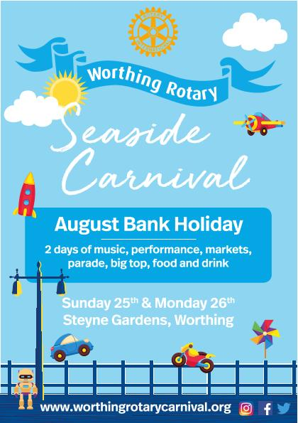 Worthing Rotary Seaside Carnival - Carnival flyer front page