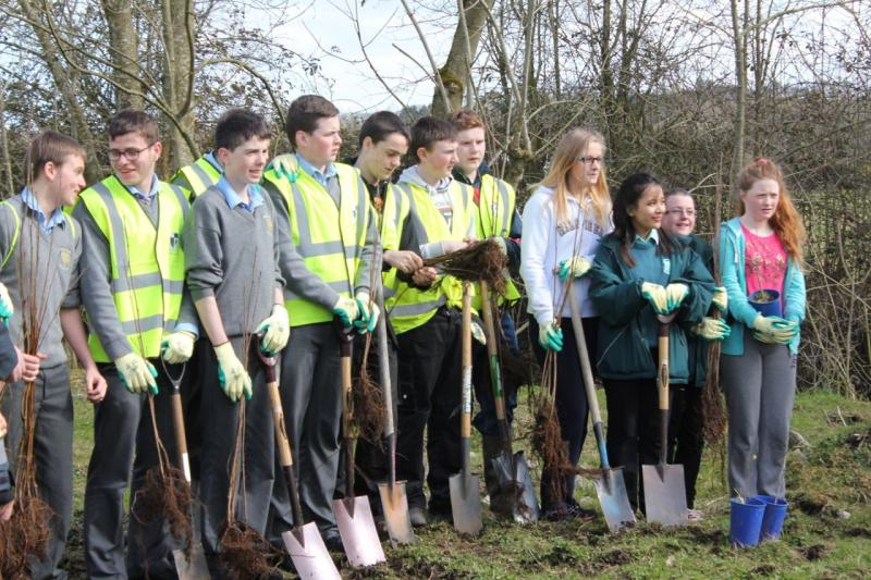 Peace Forest Ireland - Pupils from St Louis and Patrician High School rarin' to go!