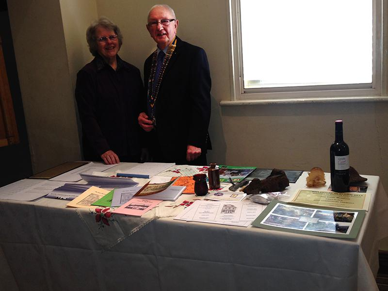 Cater Museum – A credit to the town - Christine shows President Keith the exhibits