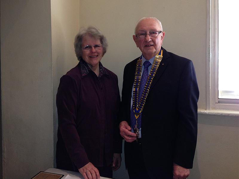 Cater Museum – A credit to the town - Christine and President Keith share a smile