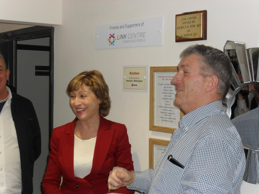 New Halcon Link Centre - Rebecca Pow MP and Paul Hughes Chairman of Taunton East Development Trust