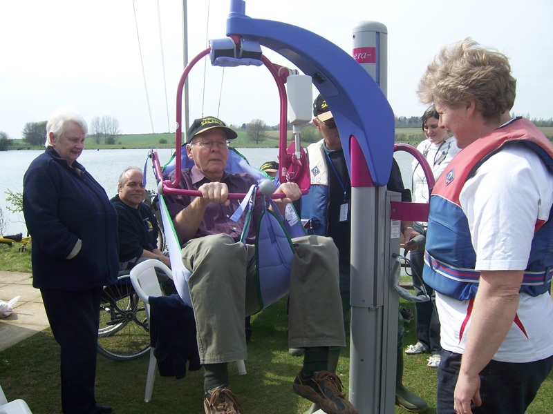 SAILABILITY - Chairman James Hopgood having Hoist use demo