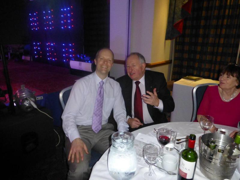 Charity Night - Star prize winner Graeme Watson with PE Mike Priest