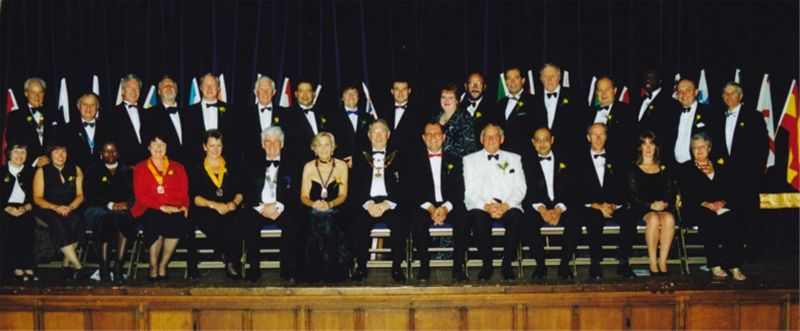 Club Charter Night - Mayor of Croydon, DG Keith Waller and Founder members
