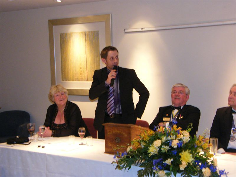 Charter Night 2008 - Hector Duff (Probus Club) with Rotarian Brian Partington O.B.E.