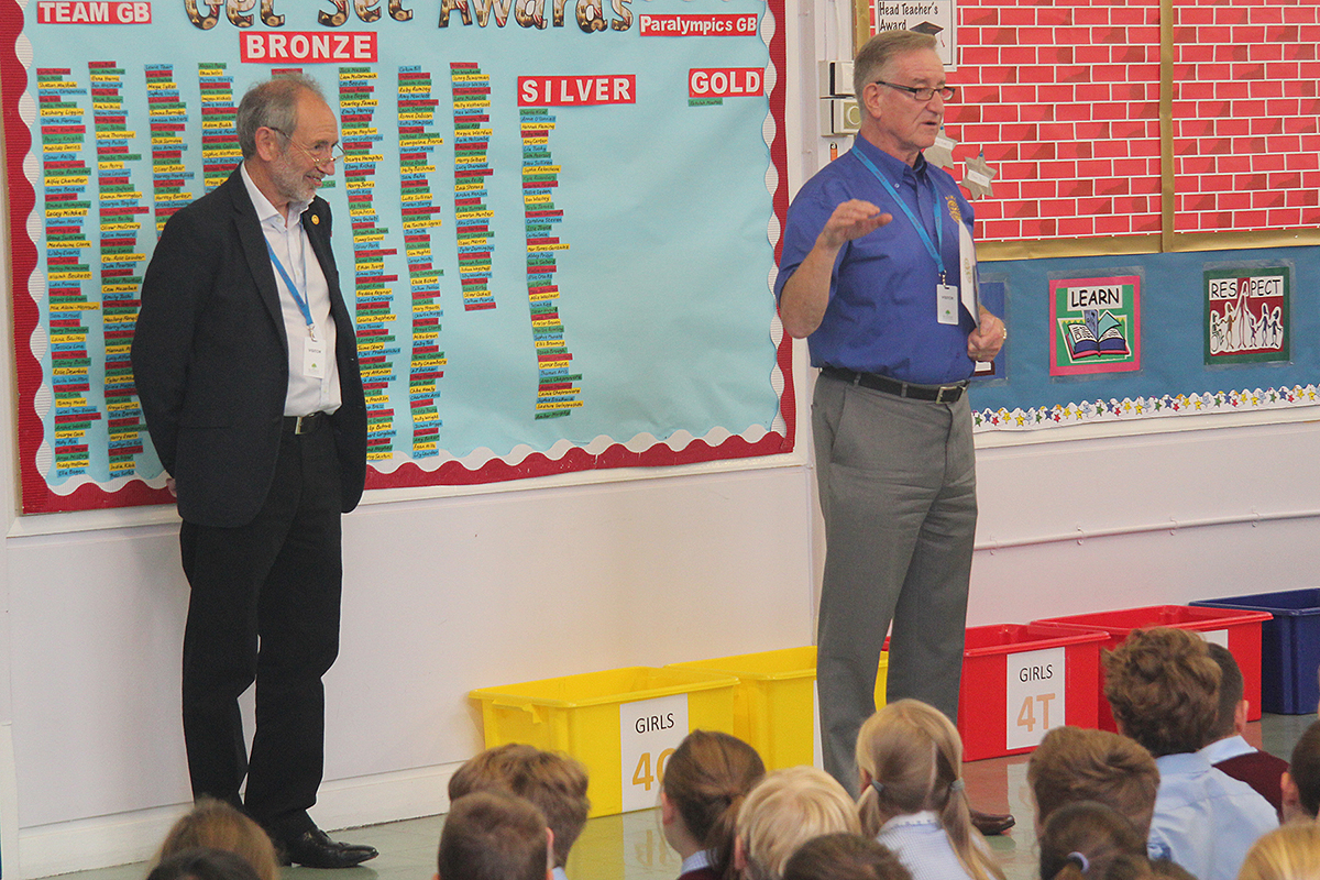 Buttsbury Chartered! - Peter Dowse & Mike Sinclair address the school