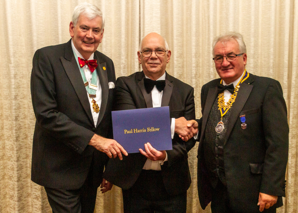 71st Charter Anniversary Gala Dinner - Apart from long service to the club as President, Secretary and Treasurer, John has given decades of service to REMAP, which makes bespoke appliances for disabled people.