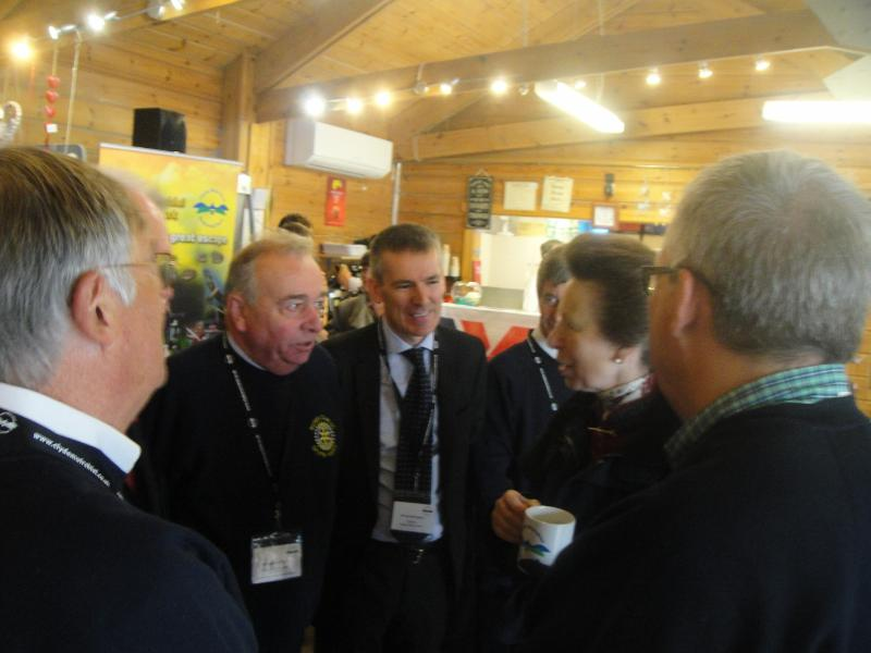 Princess Royal Visits Castle Semple - ... and a chat.