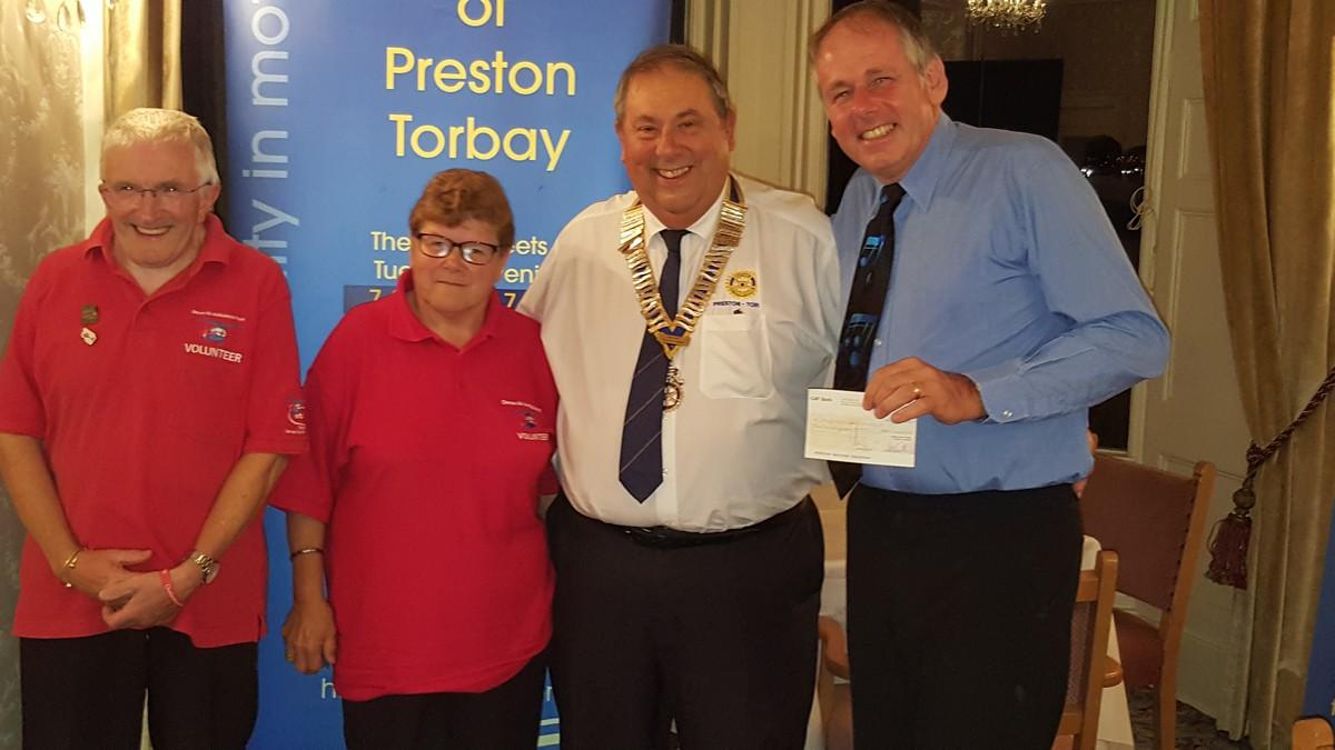 Family Fun Day - Cheque presentations to Devon Air Ambulance and Torbay Hospital Radio