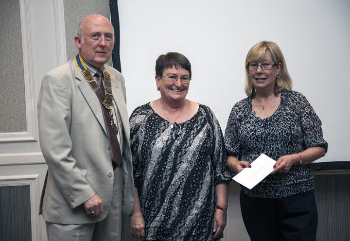 Thame Rotary's Charities Evening - From L to r: Bob Livings, Mary Syles, Gill Coleman