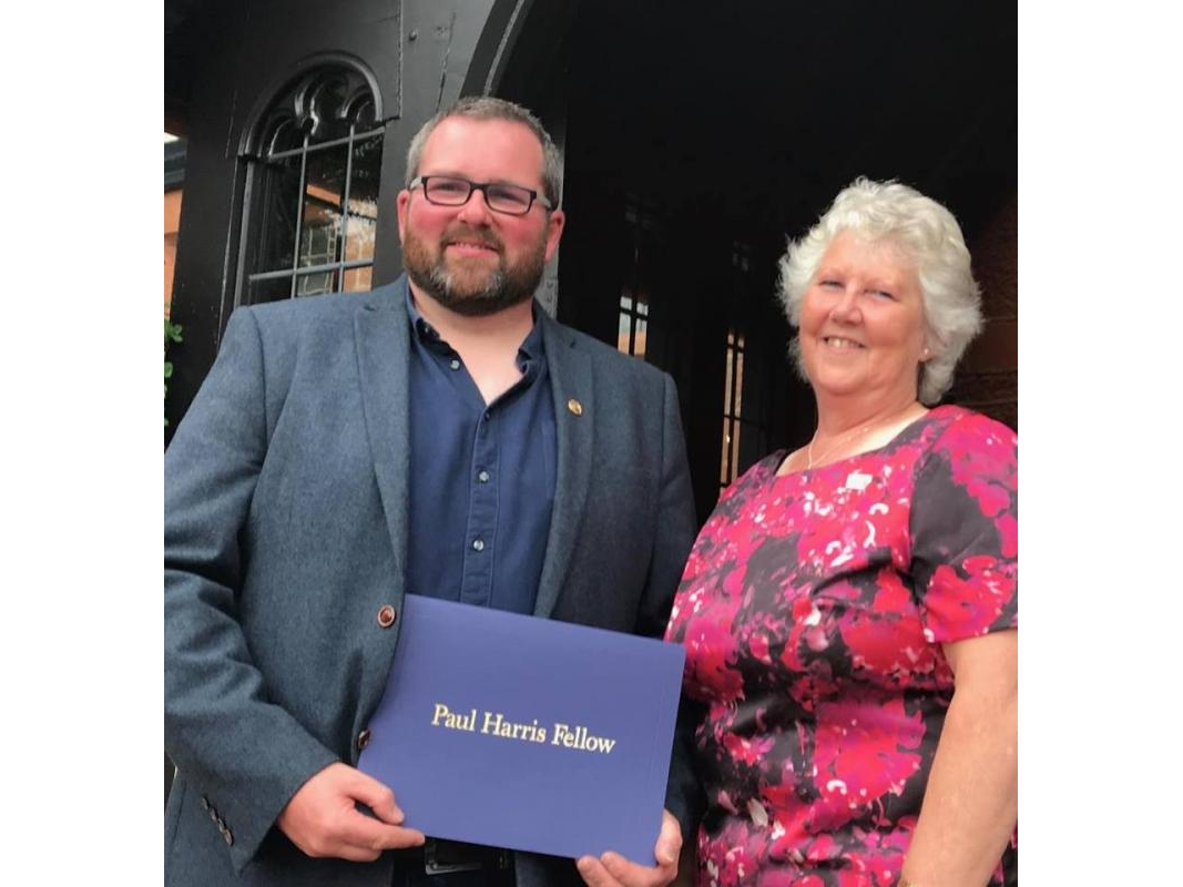 Paul Harris Fellows - Congratulations to Pipe Major Chris Bone. This award was given in recognition for the dedication shown by Chris to the youth of Ayrshire. Chris works with various Boys' Brigade companies.