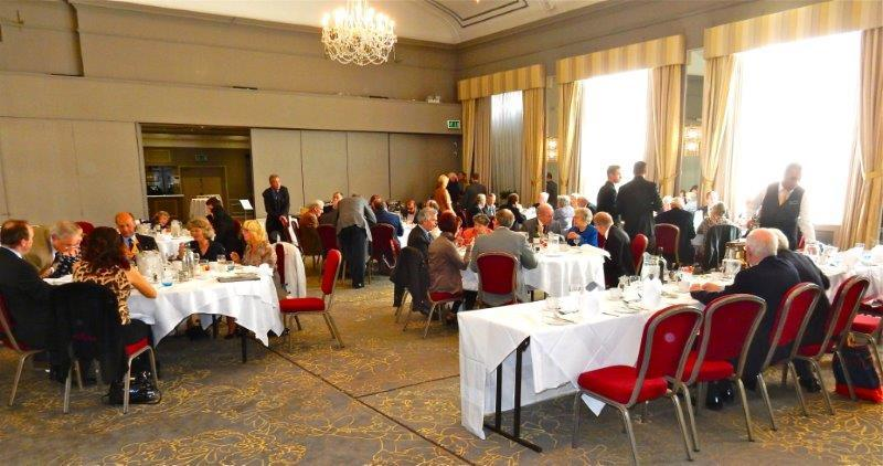 Chris clark's 50th Anniversary in Rotary - The assembled throng! Lunch at the Castle Hotel Windsor 28th September 2015