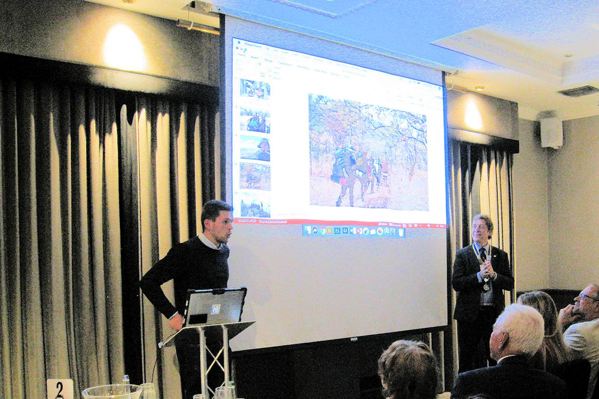 Chris Flyvbjerg Sponsored for Operation Raleigh - Chris gave an excellent illustrated talk to us at our Presidential Handover dinner on 21st June.
