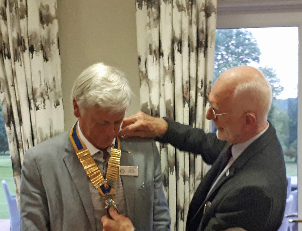 Organisation of Cookham Bridge Rotary Club - President Ron takes office in 2019