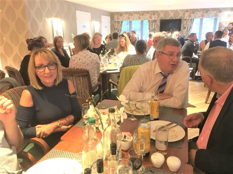 Chartering of Wych-Malbank Nantwich Rotary Club - Christine Crowe, Ashley Weaver and John Durrad