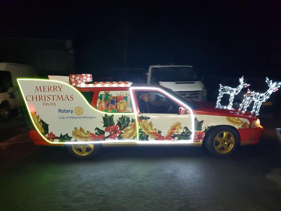 Recent News - Father Christmas travels in all sorts of carriages when he visits the London Borough of Hillingdon!