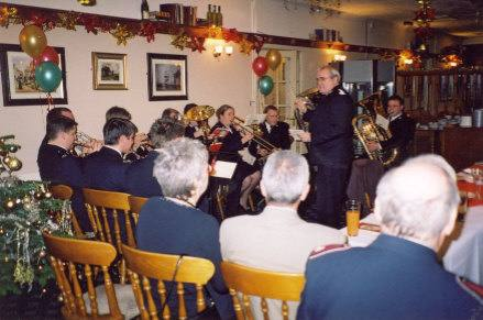 Christmas - The Salvation Army band led the carol singing