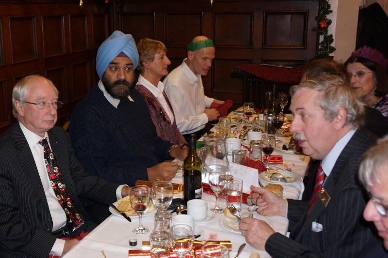 2014 Christmas Party - Enjoying the meal