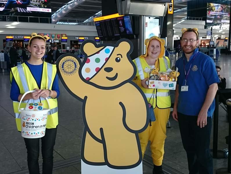 Help Pudsey fly through the roof! - Join Pudsey, Paul and the team at Heathrow 2016