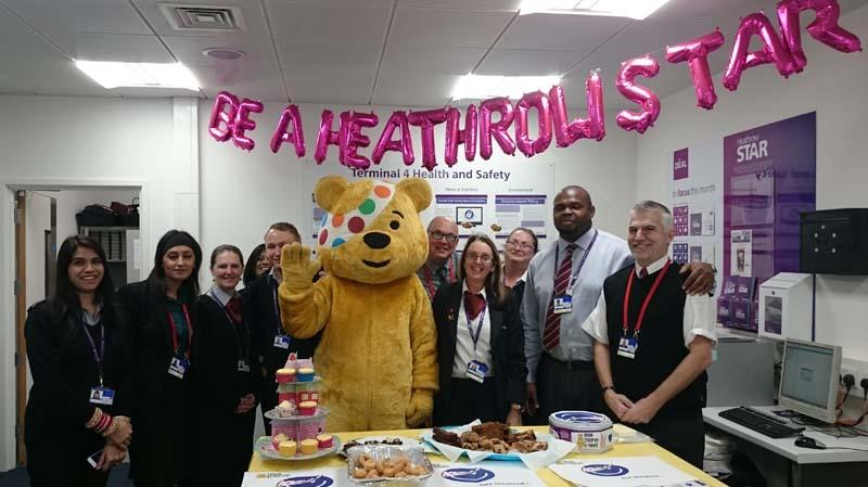 Help Pudsey fly through the roof! - Amazing support from Heathrow management and staff