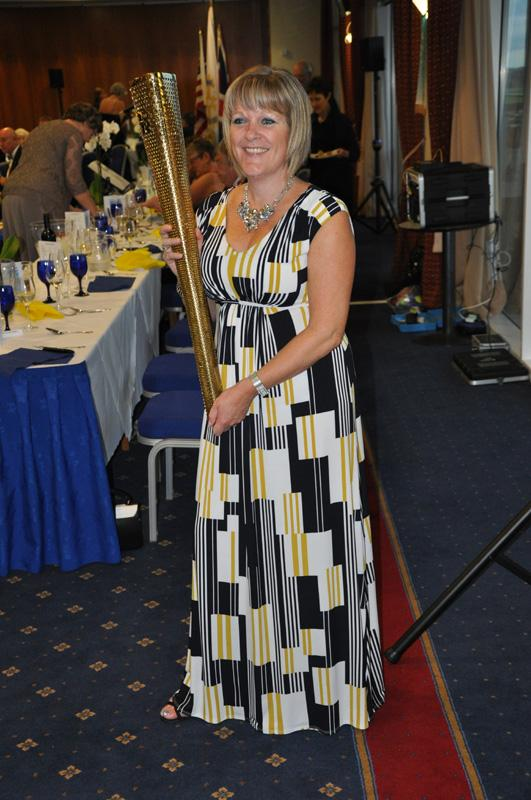 District 1040 Handover June 2012 - Clare with the olympic torch