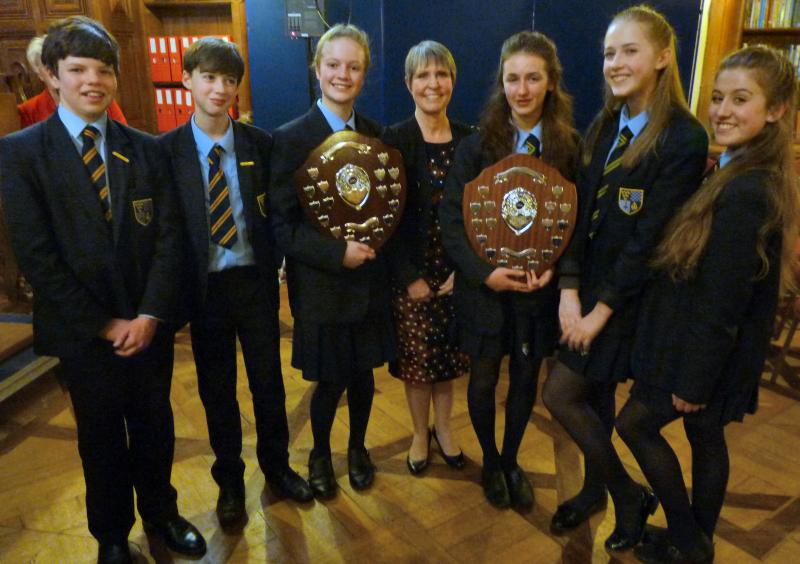 Youth Speaks - local finals - Claverham winning teams with teacher