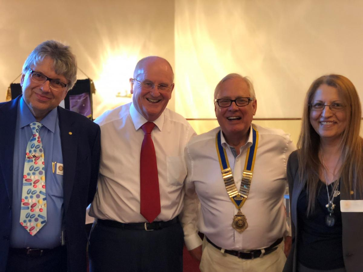 Presidential Handover 2018 - Clive and Rotarians