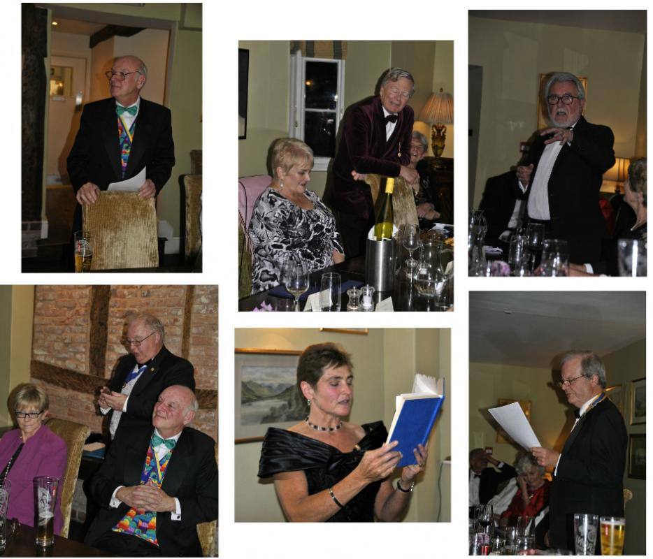 Presidents Night at the Lion in Leintwardine - The entertainers....