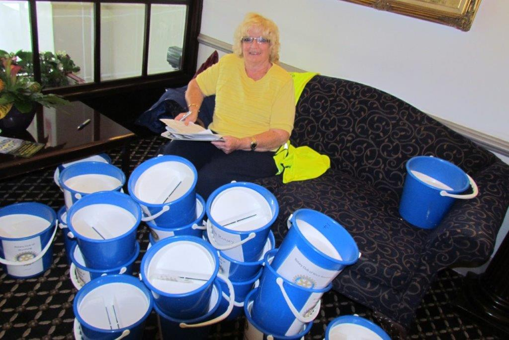 Worthing Rotary Seaside Carnival - Collecting pails for counting Carnival