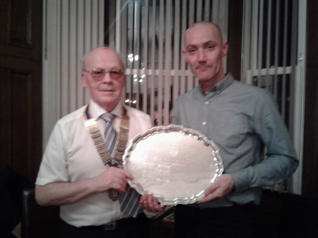 International Night - Richard Taylor, who was presented with the Community Salver for 2016