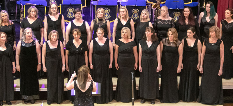 D-Day 75th Anniversary Concert - A section of the Military Wives Choir