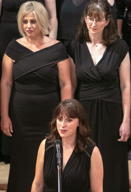 D-Day 75th Anniversary Concert - One of the choir soloists