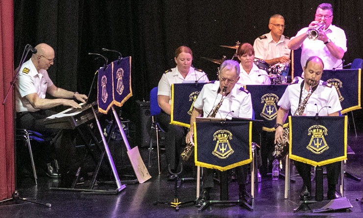 D-Day 75th Anniversary Concert - A section of the Volunteer Band