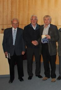 Club members visit to Falmouth - John Hawkins organiser of visit,   Ian Kelly President.and Martin Banks lecturer