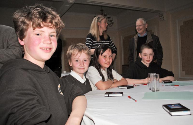 Primary School Quiz - Round 2 - The team with Norman Glendinning in the background