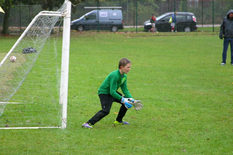Mount Grace Seven-a-Side Football Tournament - Cranbourne keeper at the ready for the shot