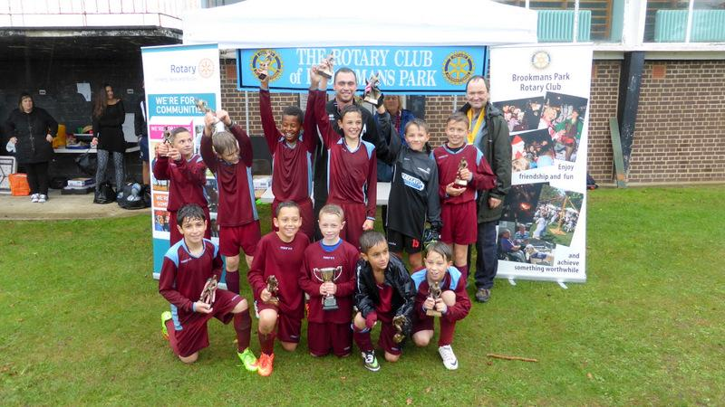 Mount Grace Seven-a-Side Football Tournament - Cranbourne with their winning Trophies