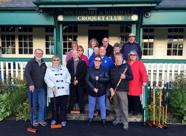 Press Releases - A fund evening learning to play croquet followed by fun and food at The Fisherman's Rest pub.