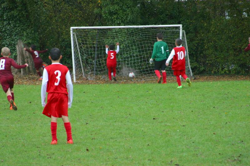 Mount Grace Seven-a-Side Football Tournament - Cuffley score a goal in the semi-final against Oakmere