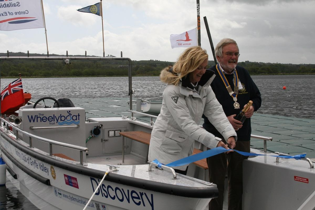 Wheelchairs on Water - the Wheelyboat project - Cutting the ribbon