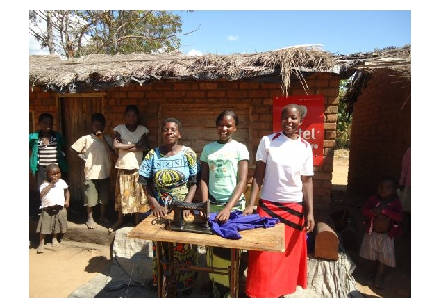 Barton-Le-Clay Rotary supports 'Tools for Self Reliance' in UK & Malawi - Joyce, Georgina and Margaret chose to learn tailoring as they thought it would earn them a living – they wanted to be independent and have a skill they could be proud of.