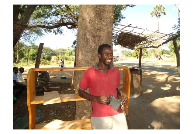 Barton-Le-Clay Rotary supports 'Tools for Self Reliance' in UK & Malawi - Matuvu joined a TFSR training course to improve his prospects and earning potential. He chose carpentry, and learnt how to use tools to make chairs, desks, doors and coffee