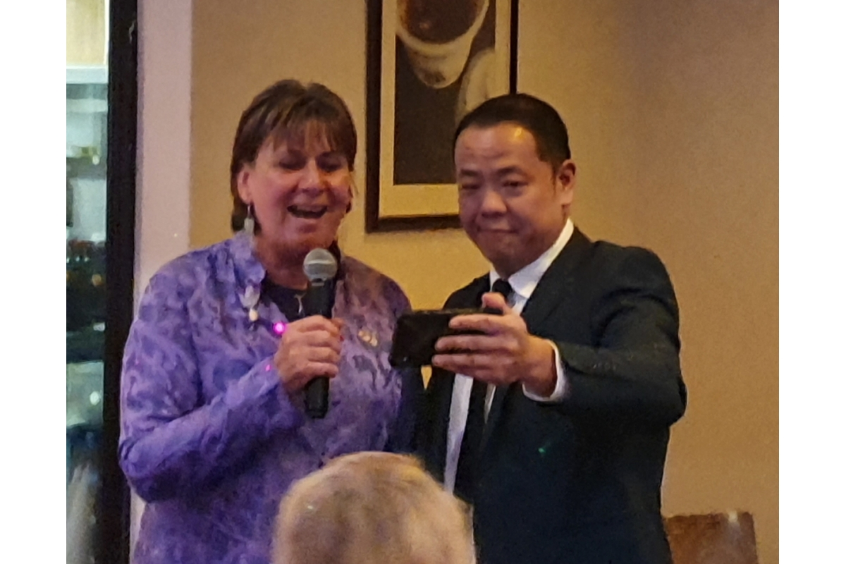 Do something different our DG asked us! - Barbara sings a bit of ABBA which she was sponsored for