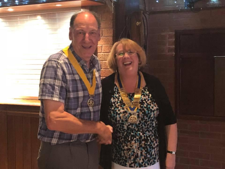 Football vs Handover - Diane with her Vice President Mike