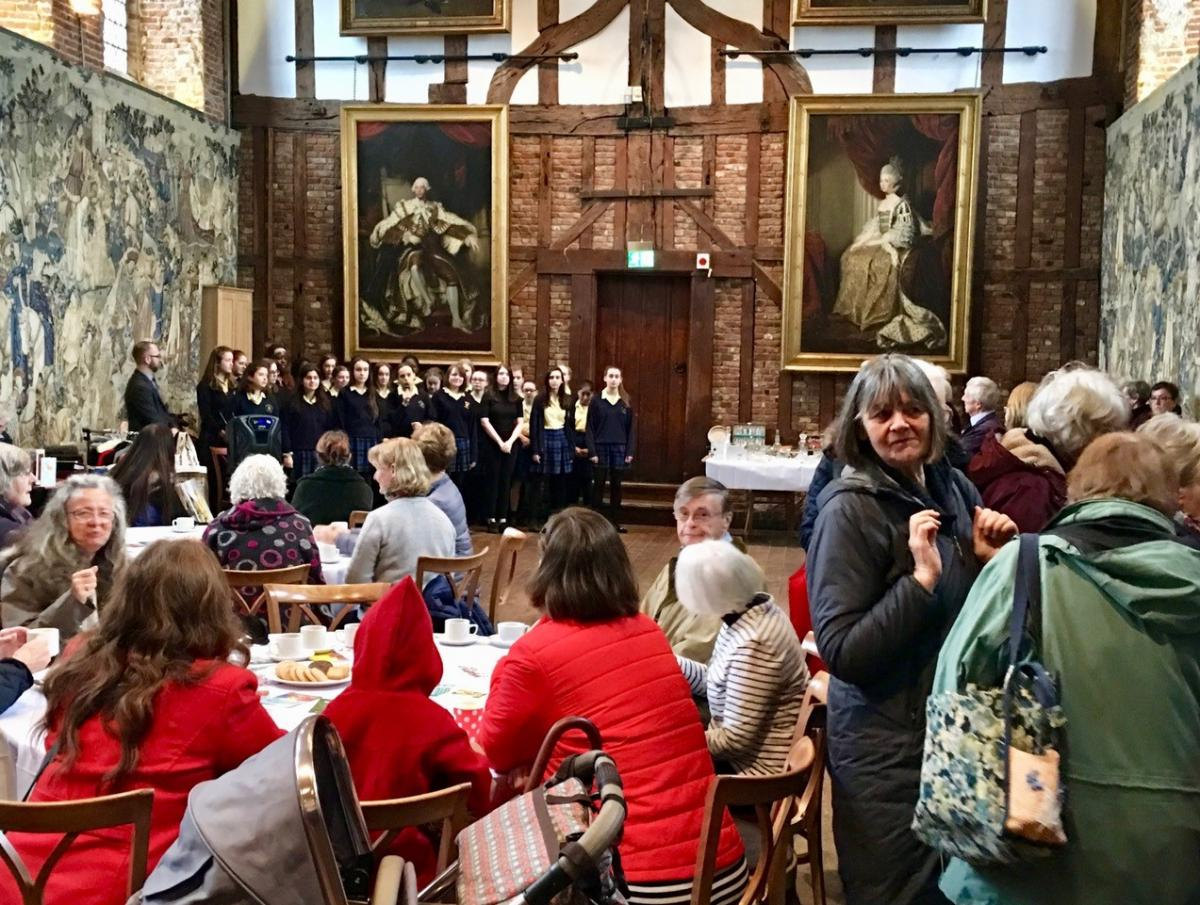 Hatfield Palace Coffee Morning - Singers in the Palace Hall