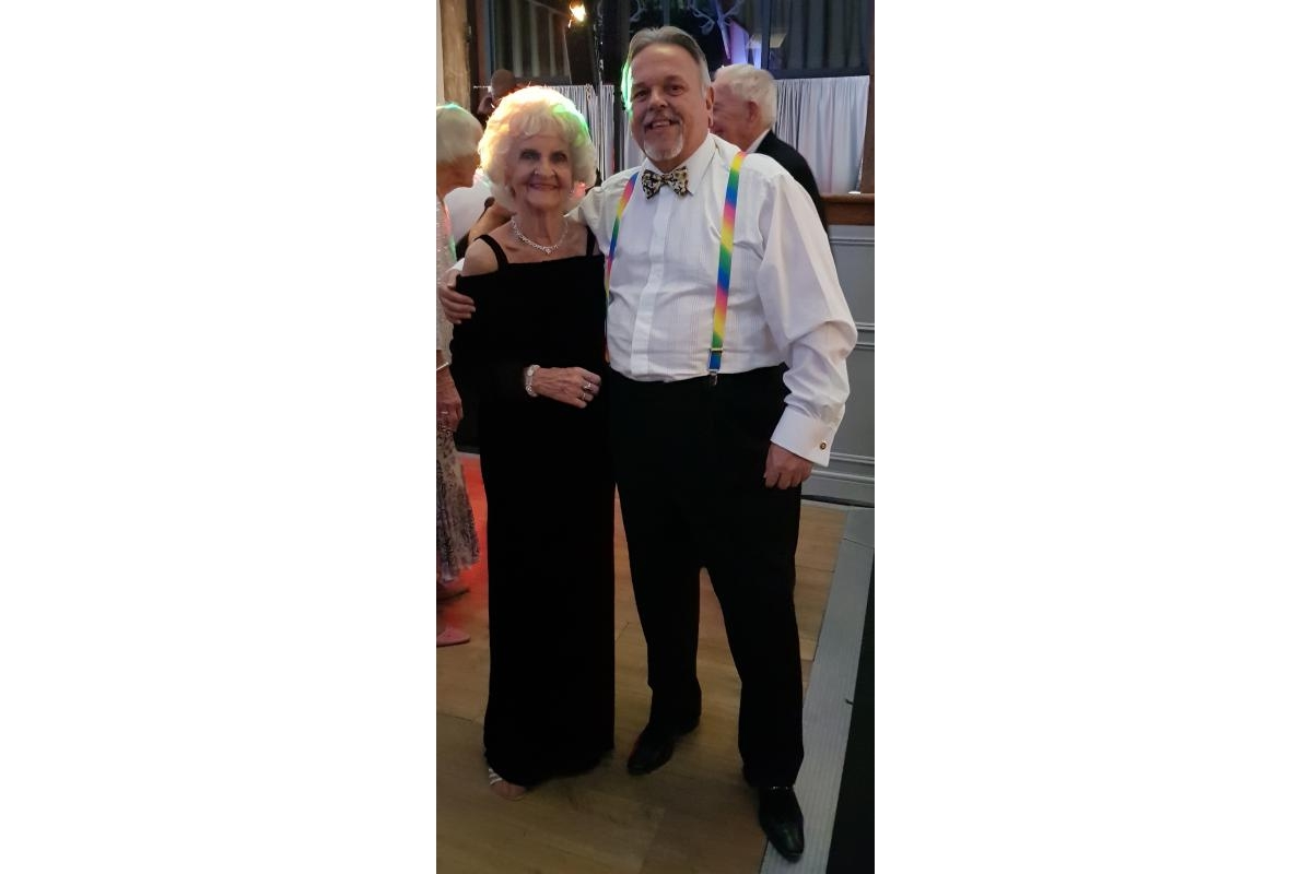 District Governor's Newsletter - January 2019 - Enjoying my club's Christmas do at our new venue, Essendon Country Club, with my mother.