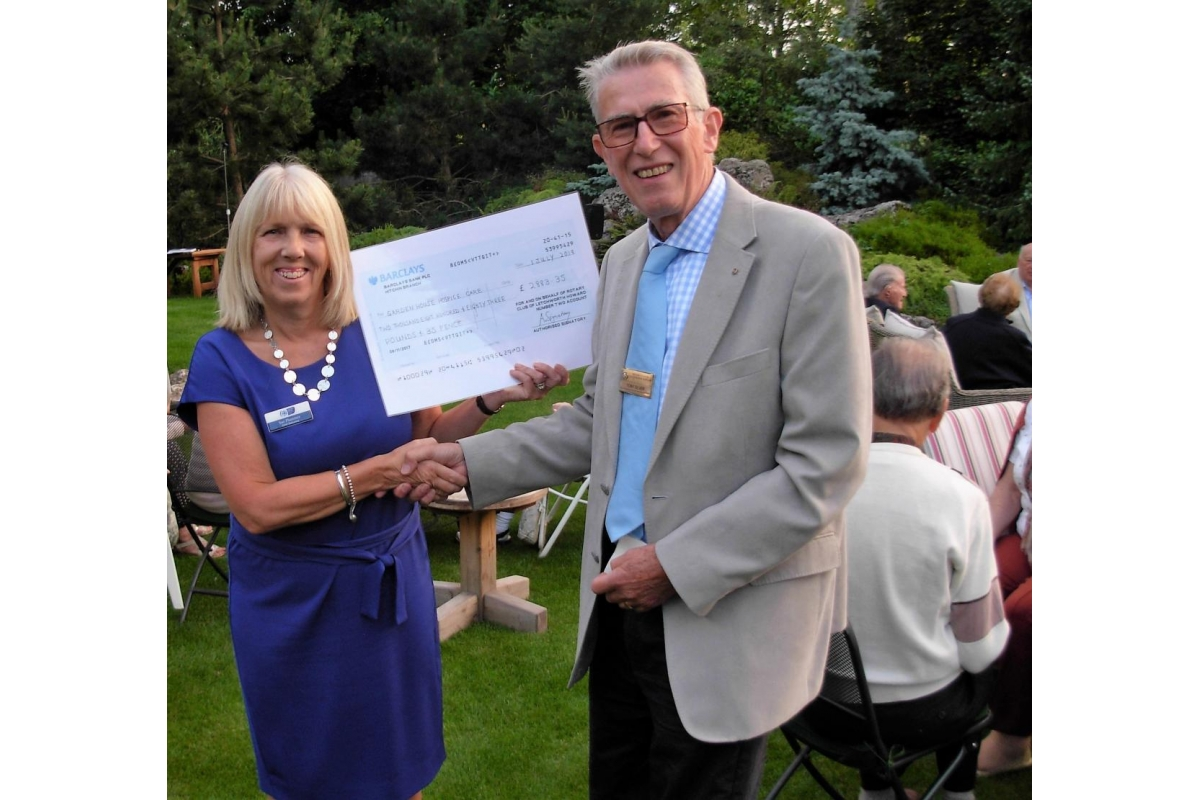 Letchworth Howard keeps it in the family - Sue Plummer, chief executive of Garden House Hospice Care, with Tony Silver